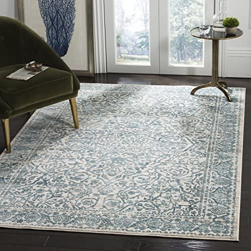 Safavieh Princeton Collection PRN714M Area Rug, 9 x 12 , Blue Beige