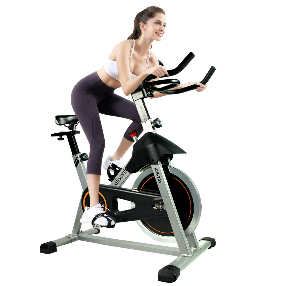 ATIVAFIT Indoor Cycling Bike Stationary 40 lbs Flywheel Cycle Bike with Ipad Mount for Home Cardio Gym Workout