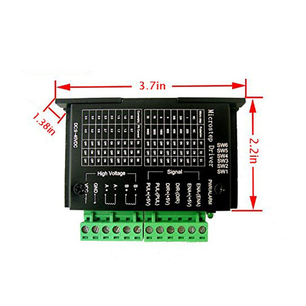 61on44T0NML._SL1000_ mysweety tb6600 4a 9 42v stepper motor driver cnc controller  at creativeand.co
