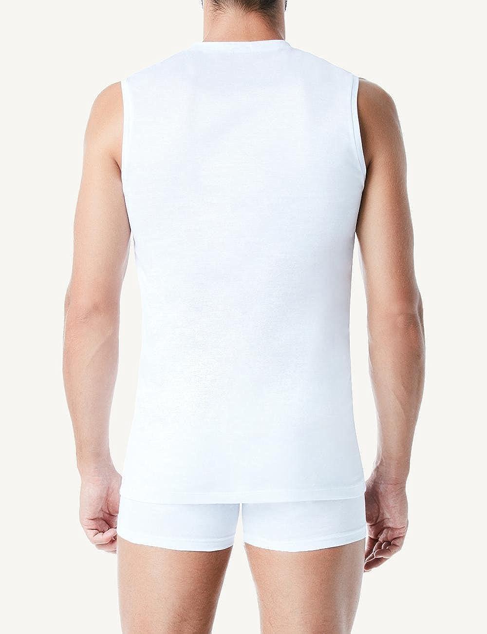 Intimissimi Mens V-Neck Egyptian Cotton Sleeveless Top
