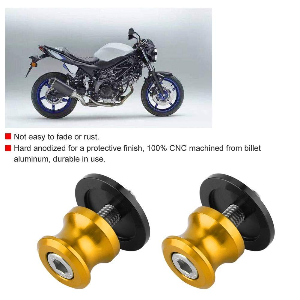 2pcs 8mm Motorcycle CNC Rear Stand Swing Arm Spool Sliders Stand Swingarm Bobbins Black Swing Arm Spool