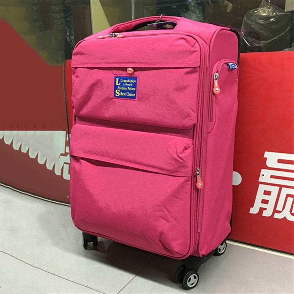 Color : Pink, Size : 26 Trolley Case Luggage Suitcases Super Lightweight Durable Hold Travel Carry Travel Bags 6 Sizes Tingting