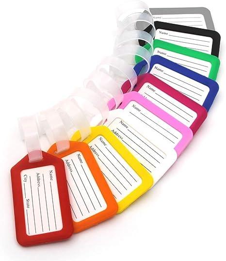 Amazon.com: 10 etiquetas de equipaje de plástico de 3.4 x ...