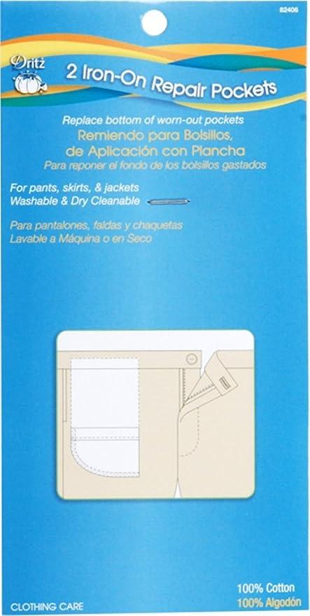 Dritz 82406 Clothing Care Iron Repair Pockets, 2 Each