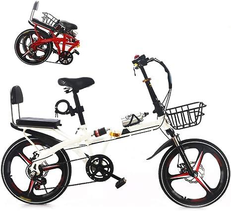YRYBZ 20 Pulgadas Bicicleta Adulto, Bicicleta de Montaña Plegable ...