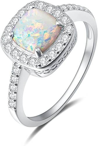 Amazon Com Carleen 14k White Gold Plated 925 Sterling Silver