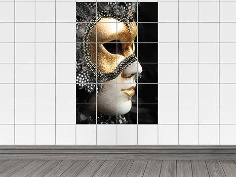 Piastrelle adesivo piastrelle immagine maschera del carnevale di