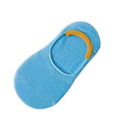e619b110e77 Westeng Chaussettes en Coton Chaussettes Basse Chaussettes Anti-glisse pour  Bébé Enfant 1 Paire