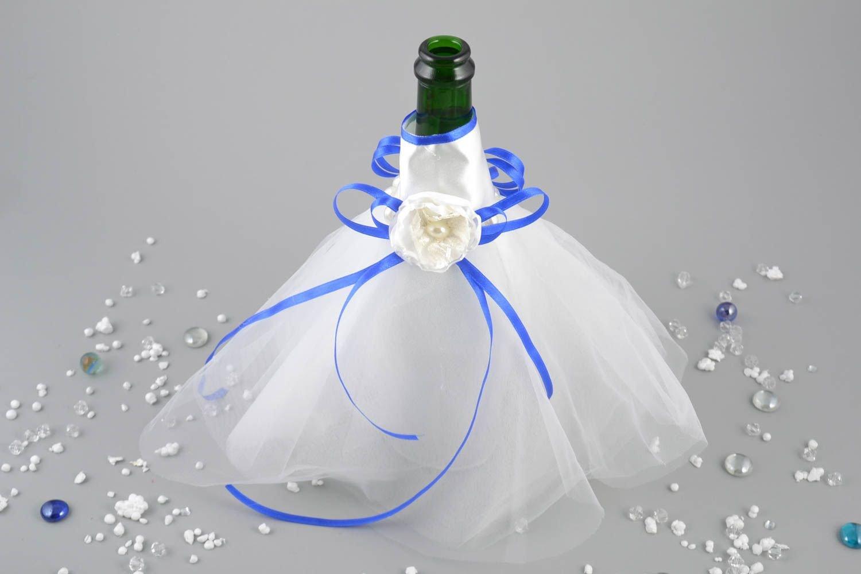 Decoracion para botella de cava bonita traje de novia artesanal original: Amazon.es: Hogar