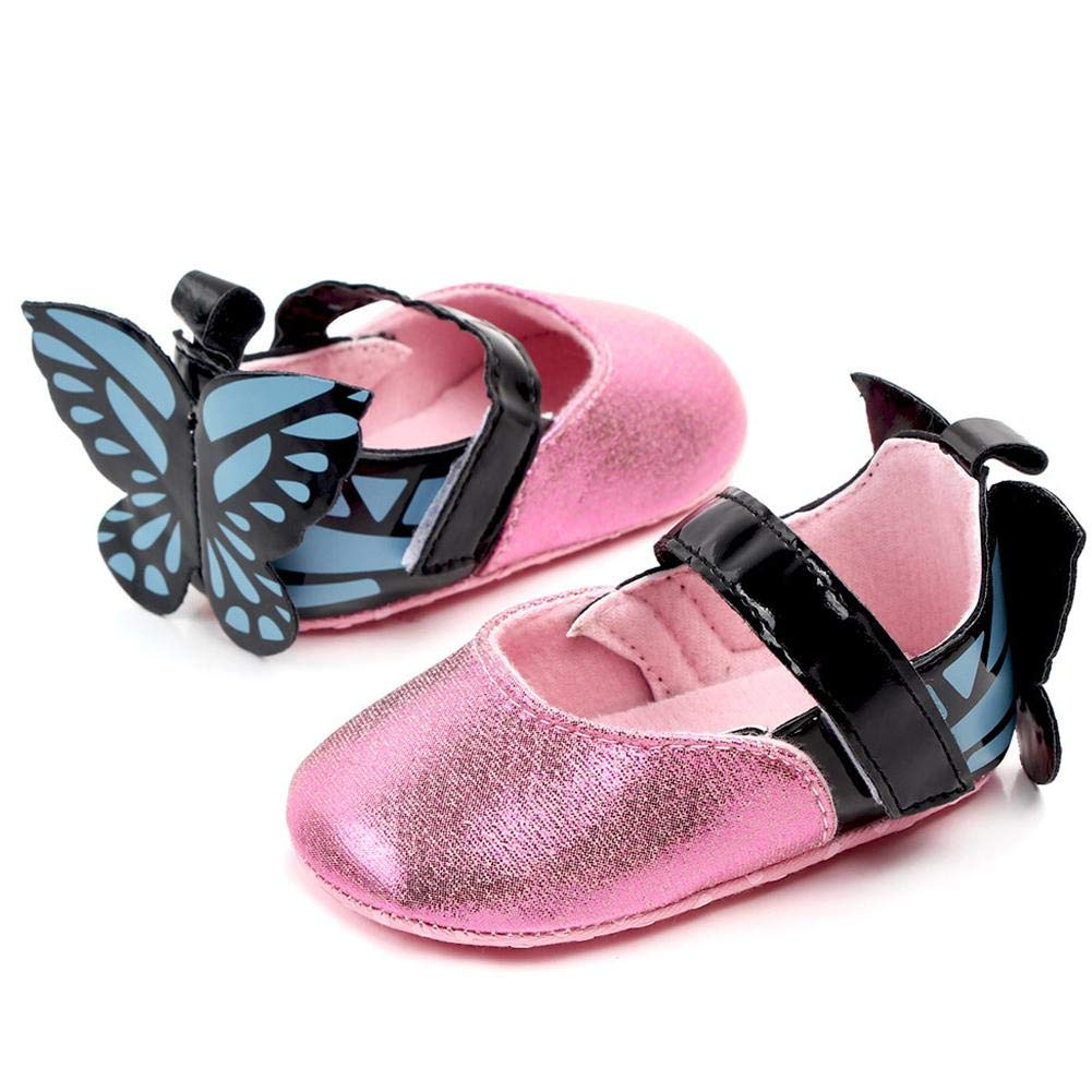 OPP Bag Ladeyi 0-1 Year Old Female Baby PU Baby Shoes Non-Slip Princess Walking Shoes Baby Toddler Shoes Beautiful and Lovely Princess Shoes