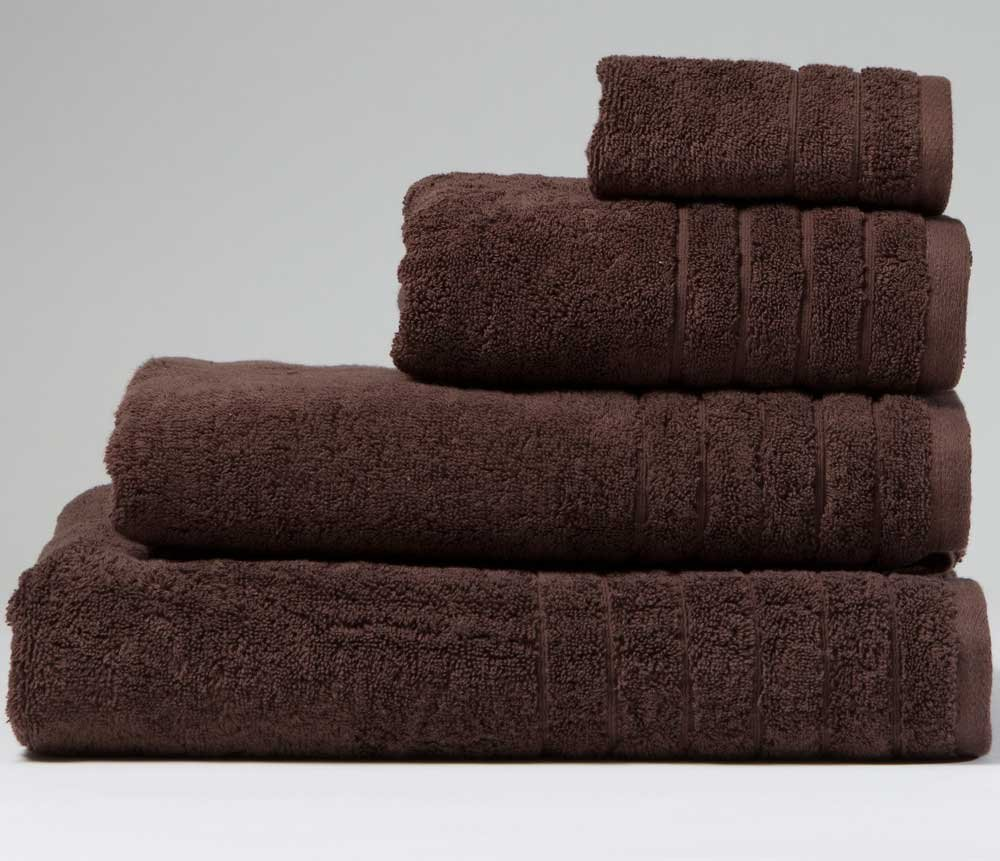 linenHall 650gsm Plain Chocolate Brown Face Cloth (SEE SIZE OPTIONS) BuyTowels.co.uk