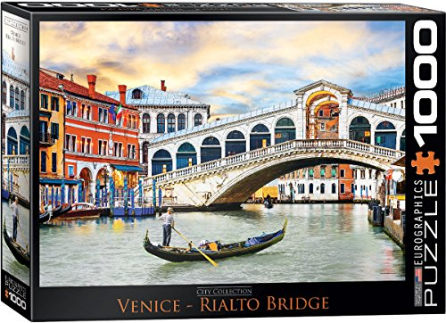EuroGraphics Venice Rialto Bridge Puzzle (1000 Piece) - Venice Bridge
