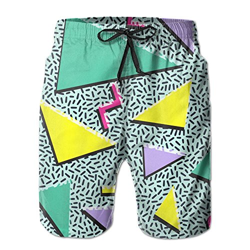Men's Retro Vintage 80S 90S Fashion Style Design Summer Quick Dry Beach Surfing Boardshorts Swim Trunks Pants