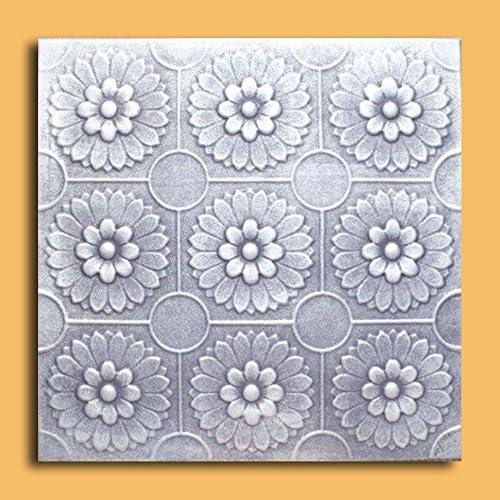 Odessa Silver Black Package of 10 Tiles Antique Ceilings Inc Styrofoam Ceiling Tile
