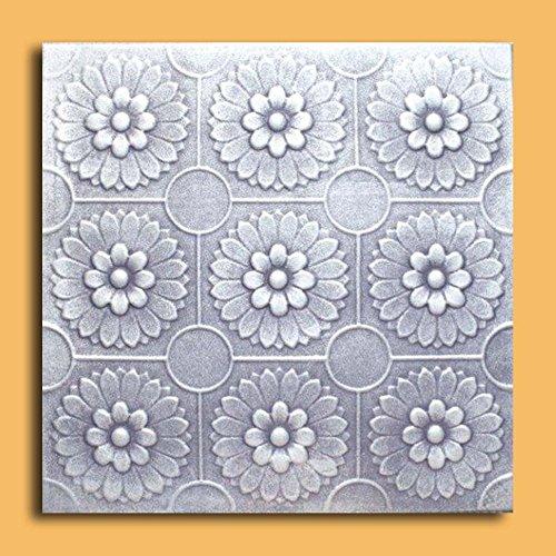 Antique Ceilings Inc - Odessa Silver Black - Styrofoam Ceiling Tile (Package of 10 Tiles) ()
