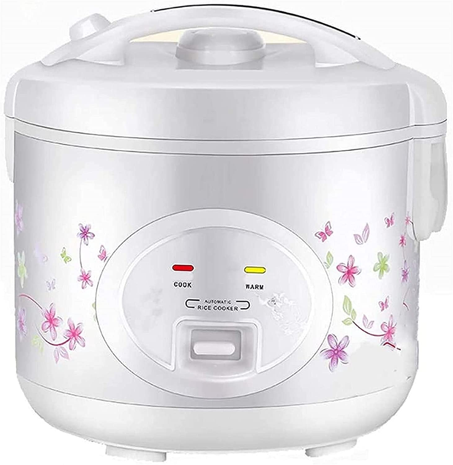 Pans for cooking Rice Cooker Mini Rice Cooker Small Steamer 220V One Button Operation and Multifunction Electric Cooker to Keep Warm Automatic Suitable for Families Student Office Workers White