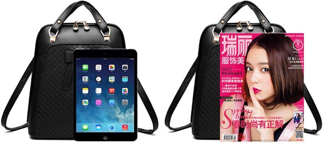 Ladies Bowknot Backpack Shoulder Bag Women School Rucksack Schoolbag for Teenagers Students PU Leather Rucksacks