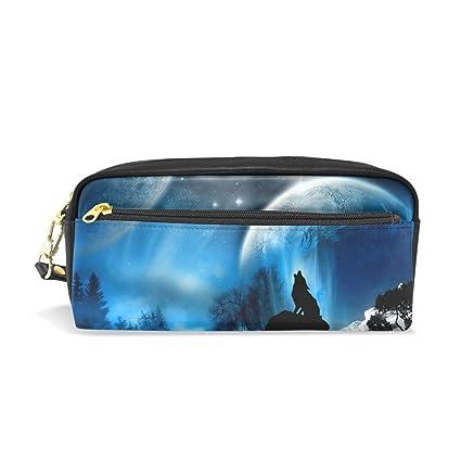 BONIPE - Estuche para lápices Galaxy Sky Wolf (incluye bolsa ...
