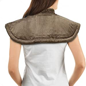 Heating Pad Fast-Heating Technology for Back/Waist/Abdomen/Shoulder/Neck Pain and Cramps Relief - Moist and Dry Heat Therapy with Auto-Off Hot Heated Pad by GOQOTOMO-HW-PJ