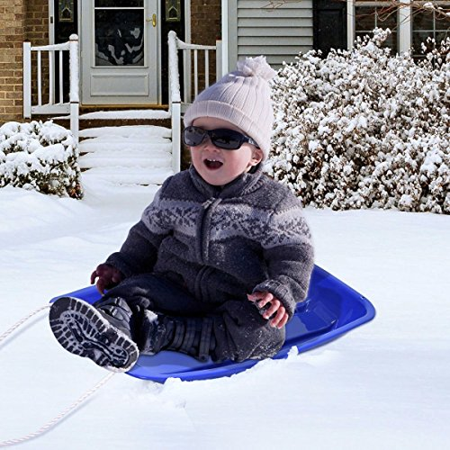 Goplus 35 Snow Sled Sand Grass Skiing for Kids Boat Sledge Toboggan Downhill Sprinter with 2 Handles and Pull Rope