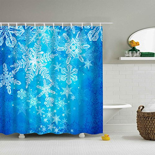 72' Bow Top (Livoty Christmas Waterproof Polyester Bathroom Shower Curtain Decor With Hooks 66x72'' (M))