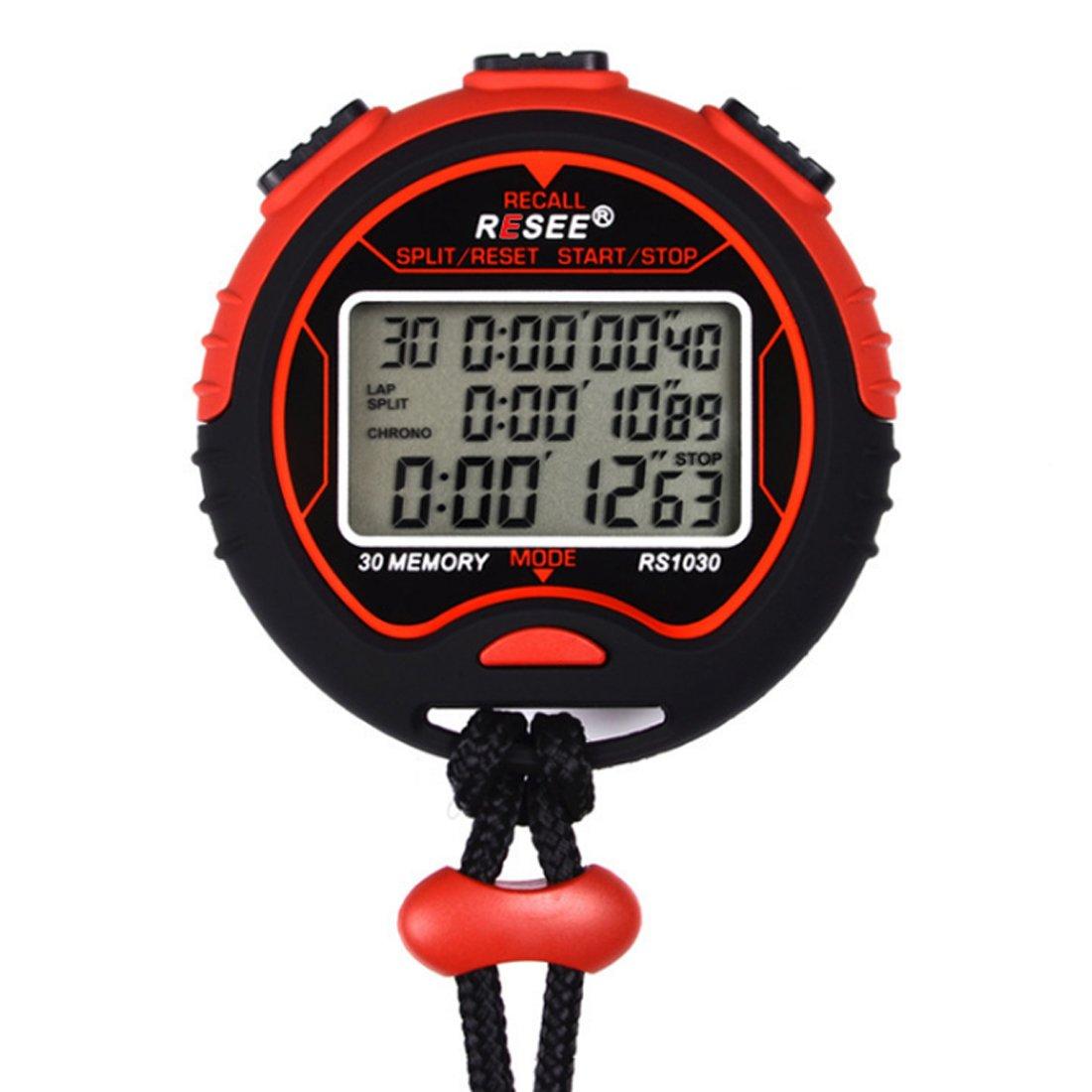 OviTop Cronómetro Sport, cronómetro electrónico Impermeable ...