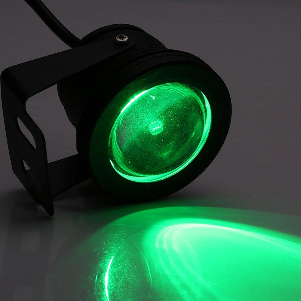 Negro 10W 12V RGB Foco LED subacu/ático IP68 Impermeable para acuario de estanque para acuario para yate marino Foco LED Subacu/ático
