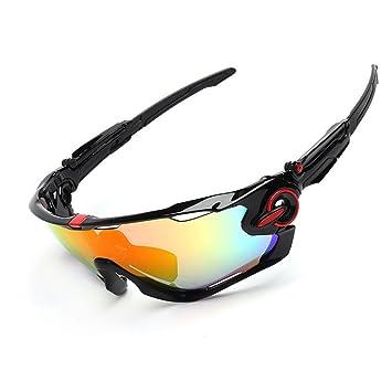 Spohife Gafas de sol deportivas, protección UV 400, irrompibles, con 3