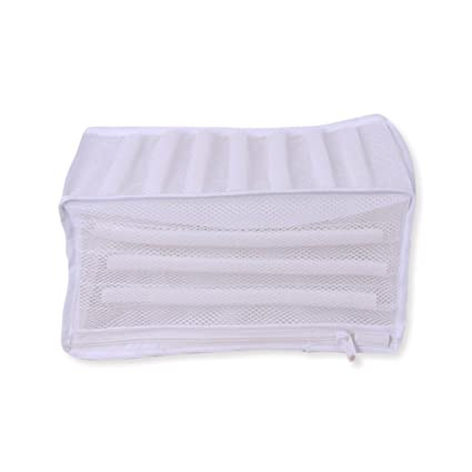 f845212ff0f79 eronde Shoes Washing Bag Polyester Mesh Laundry Wash Bag White Padded Net  Wash Bag for Protecting Trainers & Shoes in The Washing Machine