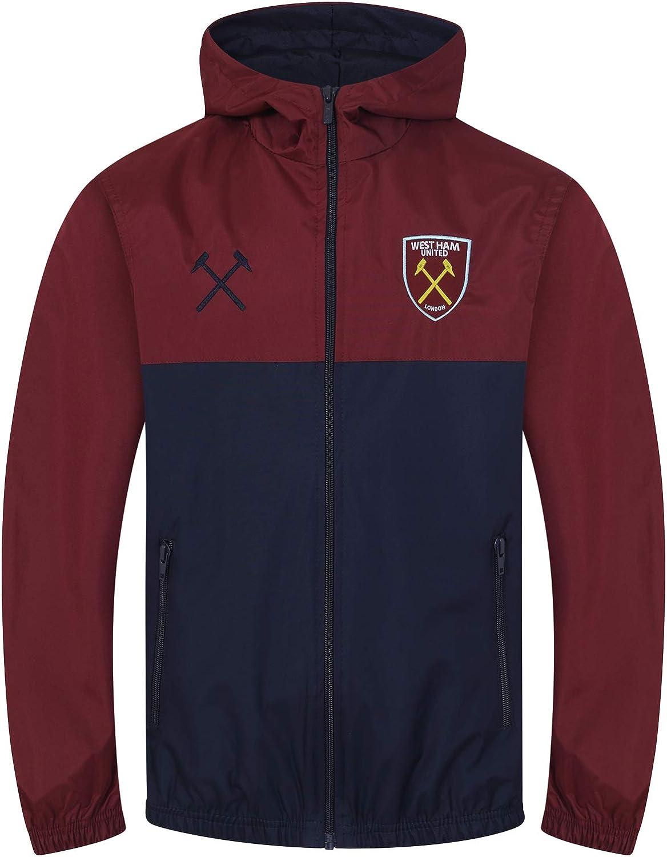 West Ham United FC Official Football Gift Boys Kids Shower Jacket Windbreaker