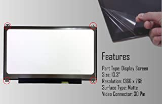 AJParts New 13.3' Laptop LED LCD Matte AG Slim Screen Compatible B133XTN01.3 H/W:2A F/W:1 WXGA HD Display Panel non Touch 30 Pin