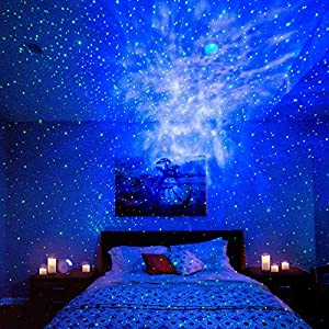 BlissLights Sky Lite – Laser Projector w/LED Nebula Cloud for Game Rooms, Home Theatre, or Night Light Ambiance (Indoor)