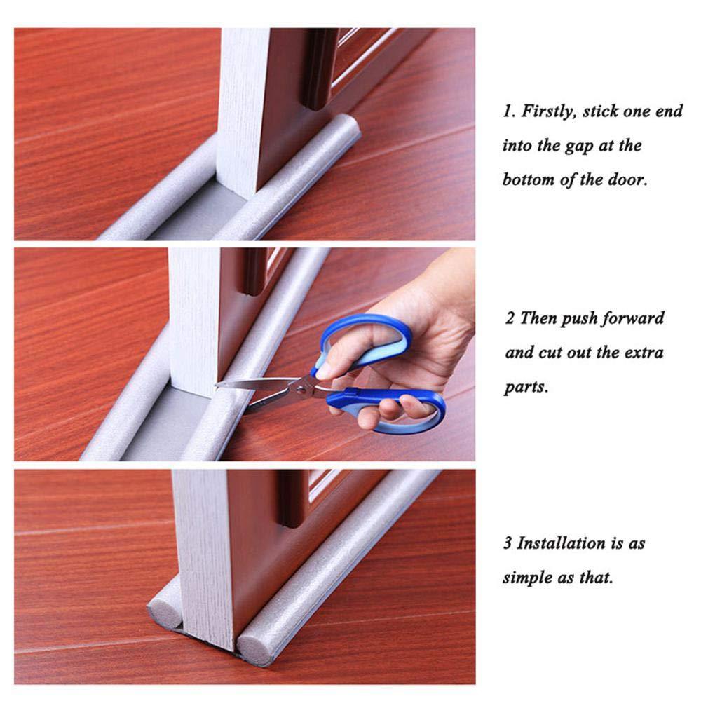 MOGOI Under Door Draft Blocker 36 Inch Door Air Draft Stopper Double Sided Sound Dust Proof Reduce Noise Window Breeze Blocker Adjustable for Doors Windows