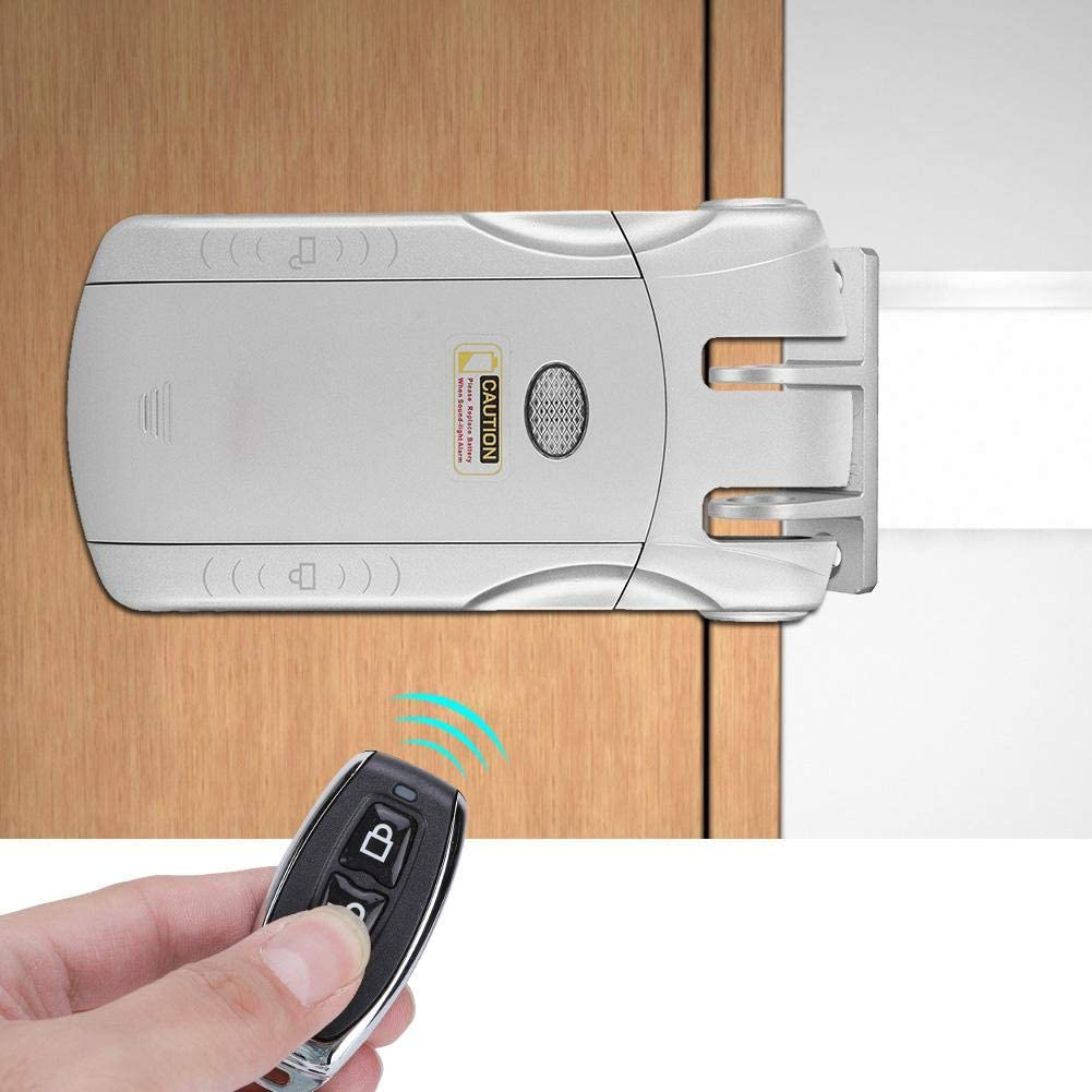 Sin cerraduras Cerradura inteligente estable con dise/ño t/áctil exterior Golden cerradura de control remoto inal/ámbrico de