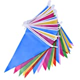 Mudder Multicolor Plastic Bunting Banner Double Sided Indoor/ Outdoor Party Decoration (36 Feet)