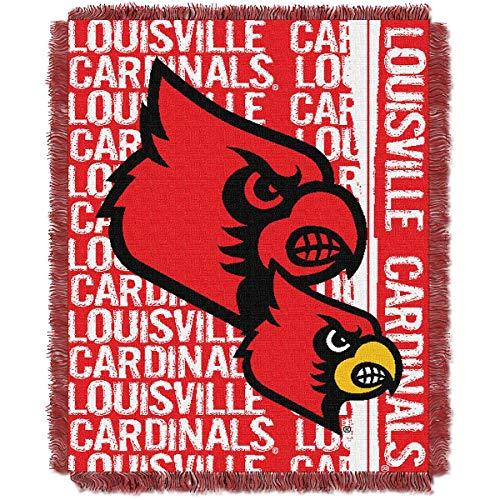 (The Northwest Company Louisville Cardinals Double Play Woven Jacquard Throw Blanket )