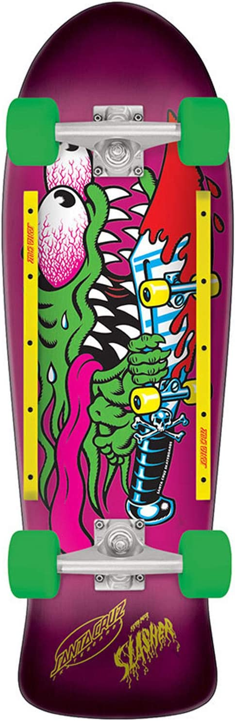 Santa Cruz Slasher Cruzer 80s Complete Skateboard,10.1in x 31.13in Assorted