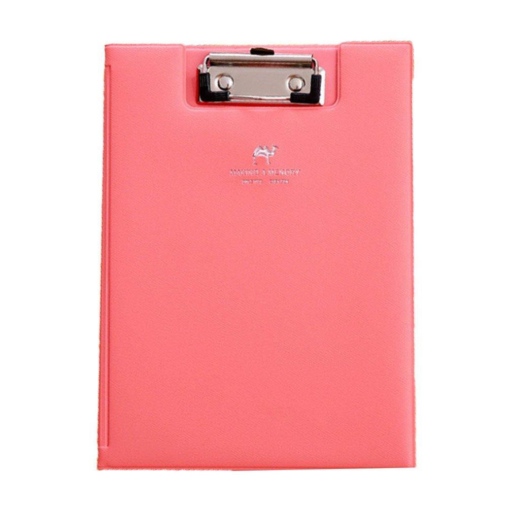 fabl Crew Portablocco Cartelle Fashion Pelle A5Porta documenti ufficio forniture scolastiche Rose rosso Fablcrew