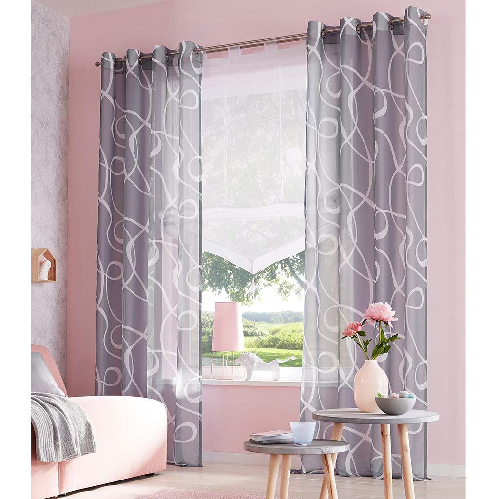 Simpvale Width 45cm Height 140cm Beige Roman Blind For Kitchen Bathroom Balcony Liftable Transparent Voile Window Curtain