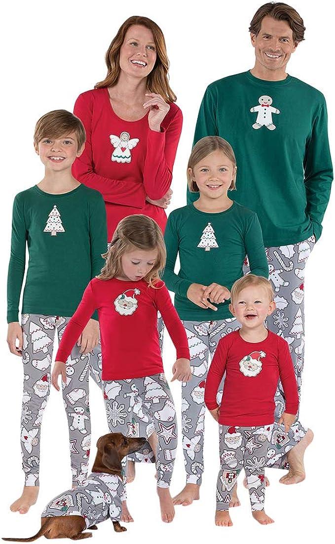 POLP Niño Pijamas de Navidad Familia Pijama Niños bebés Papá Noel Blusa Pantalones Pijamas Familiares Juego de Navidad a Juego Ropa de Dormir Pijamas de Dos Pieza Trajes Navideños S-XXL: Amazon.es: Ropa