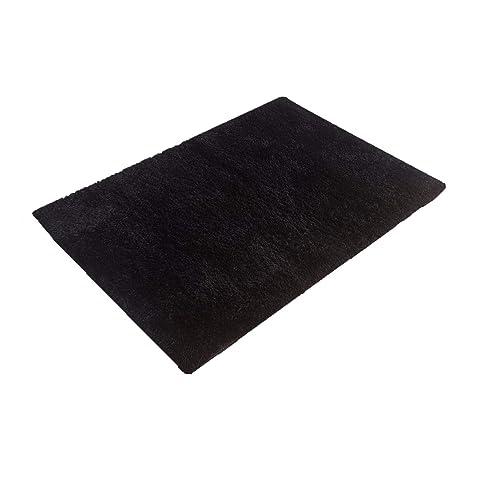 Black Furry Rug Amazon Com