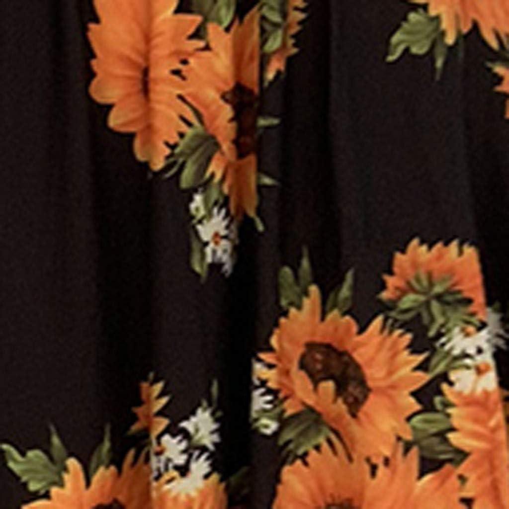 ZOELOVE vestidos Bohemia Vestidos Playeros Mujer Verano 2019 Vestido Elegante Fiesta Nuevo Rockabilly Boho Hippies Ocio Tallas Grandes Largo con Volantes Manga Corta Hombro sin Tirantes