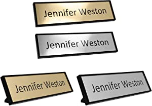 "Custom Office Name Plate Kit (5-Pack) – Personalized – Print at Home – Desk or Wall Mounted – 2"" x 8"" – Includes Mounting Hardware and 4 Printable Name Sheets"