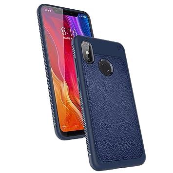 LK Funda Xiaomi Mi 8, carcasa [Shock-Absorción] [Anti-Arañazos] Slim Silicona TPU Goma Suave Bumper Case Cover Ultra para Xiaomi Mi 8 - Azul