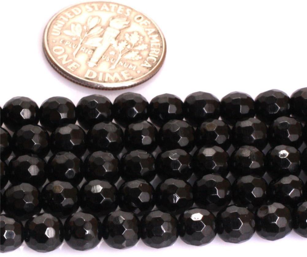 Pierres semi-pr/écieuses naturelles de qualit/é AAA pour la fabrication de bijoux 15 Spinelle noire /à facette//5 mm