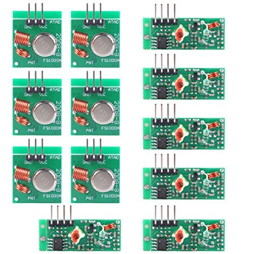 UCEC XY-MK-5V / XY-FST 433Mhz Rf Transmitter and Receiver Module Link Kit for Arduino/Arm/McU/Raspberry pi/Wireless DIY(6-pack)
