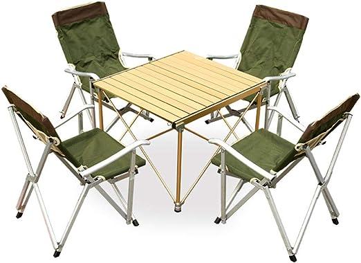 Mesa Plegable Mesa exterior y juego de sillas mesa de barbacoa ...