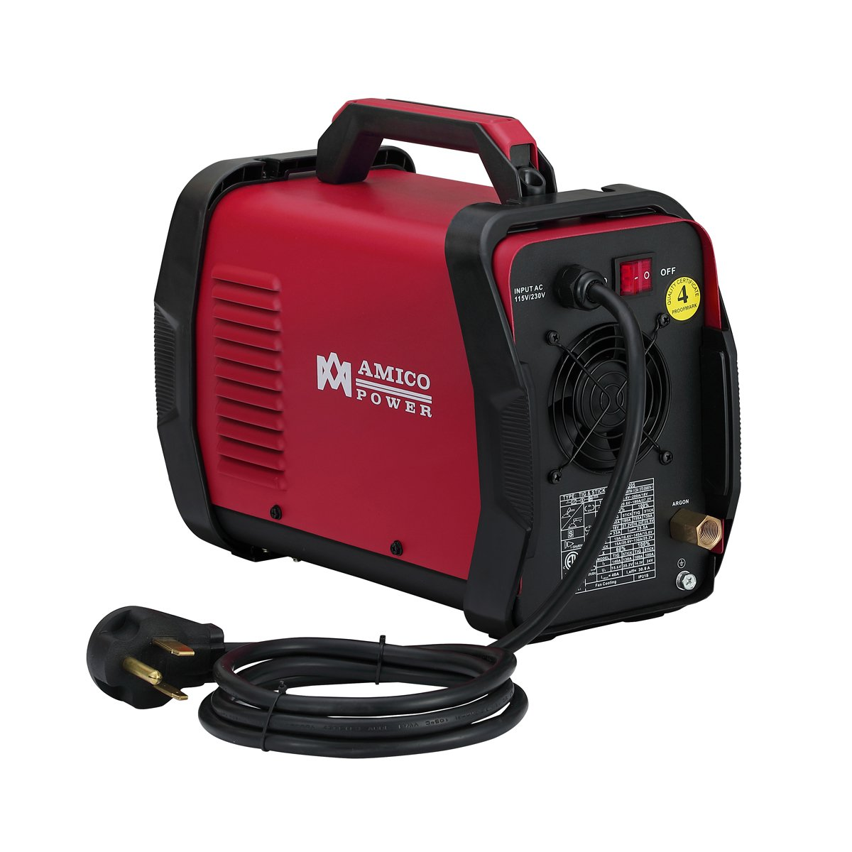 Amico TIG-205 / 200 Amp HF TIG Torch/Stick/Arc Welder 115 & 230V Dual Voltage Welding Machine by Amico (Image #3)