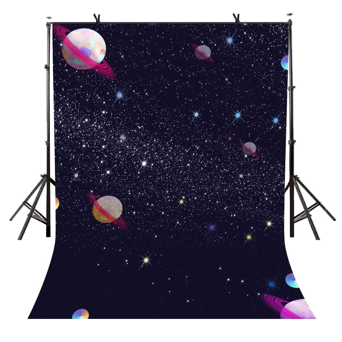 VVM 5x7フィート 星空背景 カートゥーン 宇宙 写真撮影 背景 写真撮影 背景 小道具 ビデオ スタジオ背景 LXVV261   B07GN8RCYL