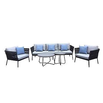 Wunderbar Loungemöbel Outdoor Reyna Sofagruppe 5 Teilig Aluminium/Rope Gartenmöbel  Design Gartenlounge Modern